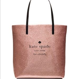 Kate Spade rose gold shopper tote